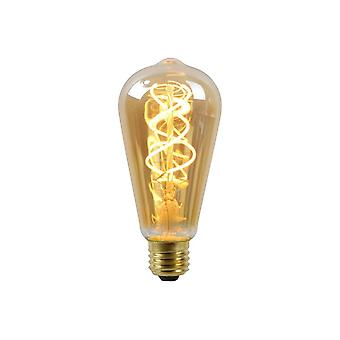 Lucide LED Bulb Shape: Round Glass Amber Filament Bulb 5W E27 230V