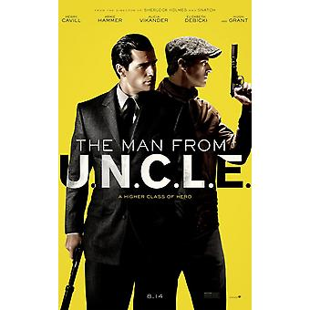 The Man From U.N.C.L.E Original Movie Poster Double Sided Advance Style