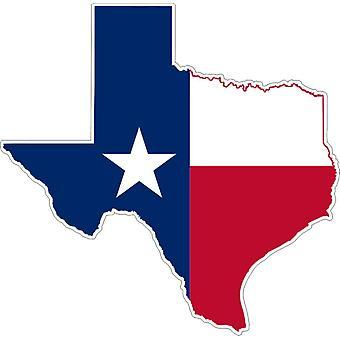 Autocollant Sticker Adhesif Voiture Vinyle Drapeau Carte Texas USA Americain