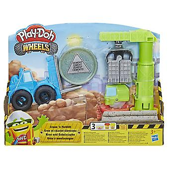Play-Doh Wheels Crane And Forklift Construction Set