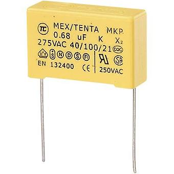 COMPONENTES TRU MKP-X2 1 pc(s) MKP-X2 capacitor Radial chumbo 0,68 μF 275 V AC 10 % 27,5 mm (L x W x H) 30 x 11 x 20 mm