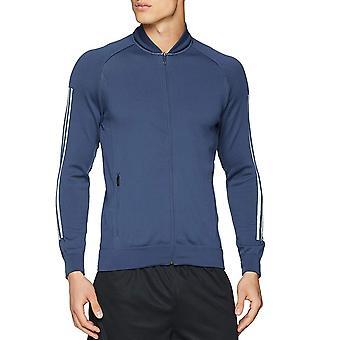 Adidas Performance Mens ID Knit pitkähihainen täysi zip pommi kone takki Top-Indigo