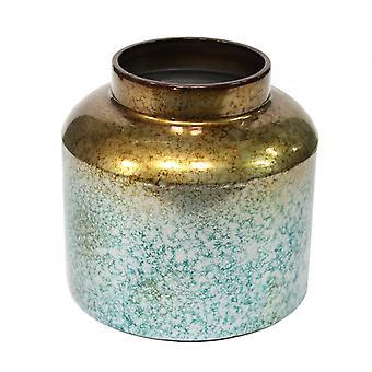 Rund metal Ombre vase