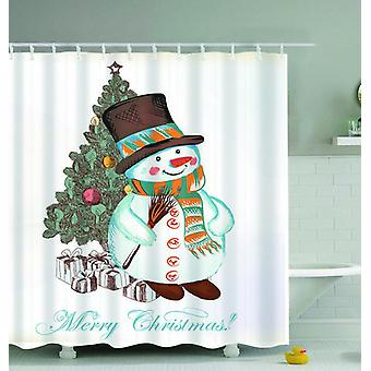 Merry Christmas Drawing Shower Curtain