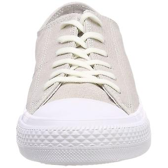 Converse Chuck Taylorr All Star Tipped Metallic Ox Pale Putty/Silver/White Wo...
