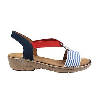 Ara Korsika-lll 57264-75 Navy/Blue/Red Womens Sling Back Sandals