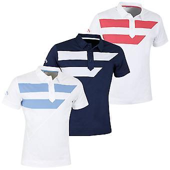 Callaway Golf Mens X Range Striped Diagonal Polo Shirt