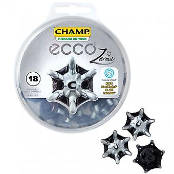 Ecco Champ Tour Zarma Slim-Lok Golf Spikes Pack - 18 Studs - Fast Twist Tri-Lok