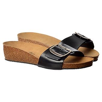 Sweet Chloe Full Leather - Single Strap Buckled Flip Flop Sandal