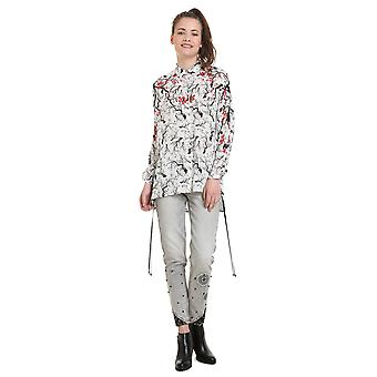 Desigual Women's Gala Cherry Blossom Print Shirt