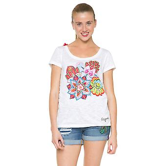 Desigual Women's Bright Patches Achlys Tshirt Top