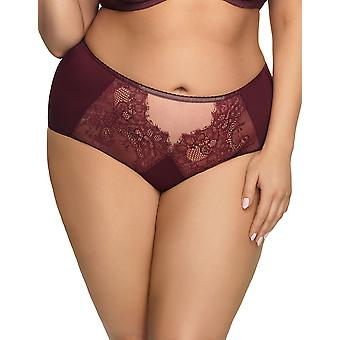 Gorsenia K517 Women's Queen Deep Red Lace Knickers Panty Full Brief