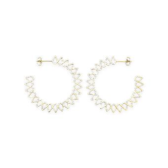 Rosefield JSPHG-J063 Earrings - Iggy Rings Spike Gold Laiton Collection