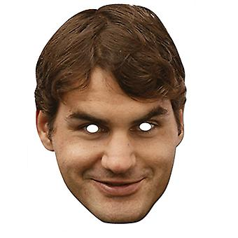 Roger Federer Celebrity Card Party Fancy Dress Mask