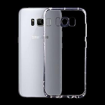 Para la caja samsung Galaxy S8, elegante transparente Grippy duradero cubierta de protección