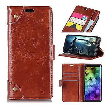 Für Samsung Galaxy S10 Plus Fall braun Nappa Textur PU Leder Brieftasche Abdeckung