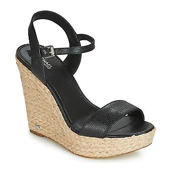 Michael Michael Kors Womens Jill Leather Open Toe Casual Platform Sandals