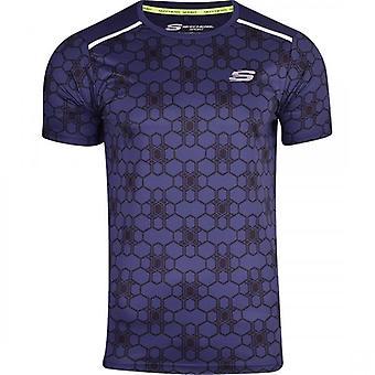 Skechers MenÌ_Ì_åÈs Sports Running T Shirt Gym Activewear Short Sleeved Breathable Mesh Back Panel
