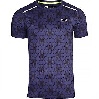 Skechers MenÌ_Ì_åÈs sport Running T shirt sportschool Activewear korte mouwen ademend mesh achterpaneel