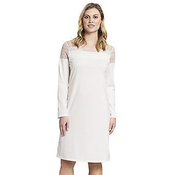 Rösch 1193606-10048 Women's New Romance Ecru Off White Cotton Nightdress