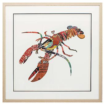 """26"""" X 26"""" Paper Collage Lobster"""