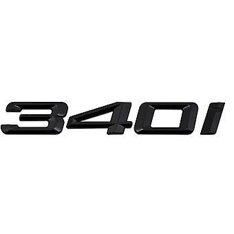 Gloss Black BMW 340i Car Model Rear Boot Number Letter Sticker Decal Badge Emblem For 3 Series E36 E46 E90 E91 E92 E93 F30 F31 F34 G20