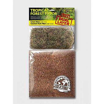 Exo Terra Tropical Forest Floor Substrato Naturale di Foresta Tropicale