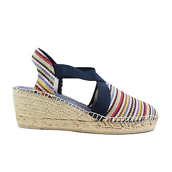 Toni Pons Tarbes Marley Multi Coloured Canvas Womens Wedge Heel Espadrille Shoes