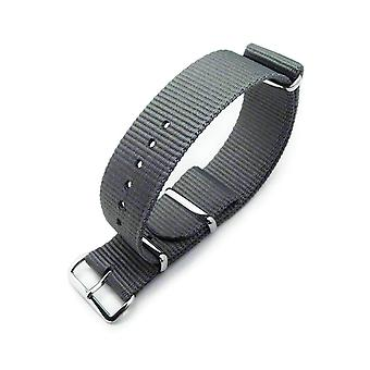 Strapcode n.a.t.o watch strap miltat 22mm g10 military watch strap ballistic nylon armband, polished - military grey