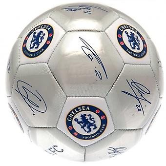 Chelsea FC Printed Players Signatures Signed Football