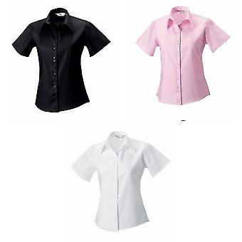 Russell Collection Ladies/Womens Short Sleeve Ultimate Non-Iron Shirt
