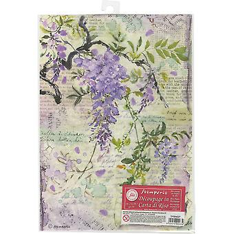 Stamperia Reis Papier Blatt A4-Wisteria