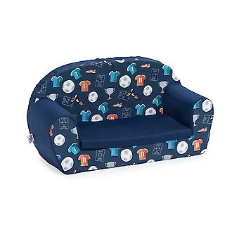 Ready Steady Bed Kids Children Mini Lounger | Kids Sofa Seat Chair | Great for Playroom kidsroom Living Room | Colourful Lightweight and Durable (Champion)