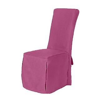 Orchid Pink Linnen Look Fabric Gestoffeerd Slipcover voor Scroll Top Dining Chair