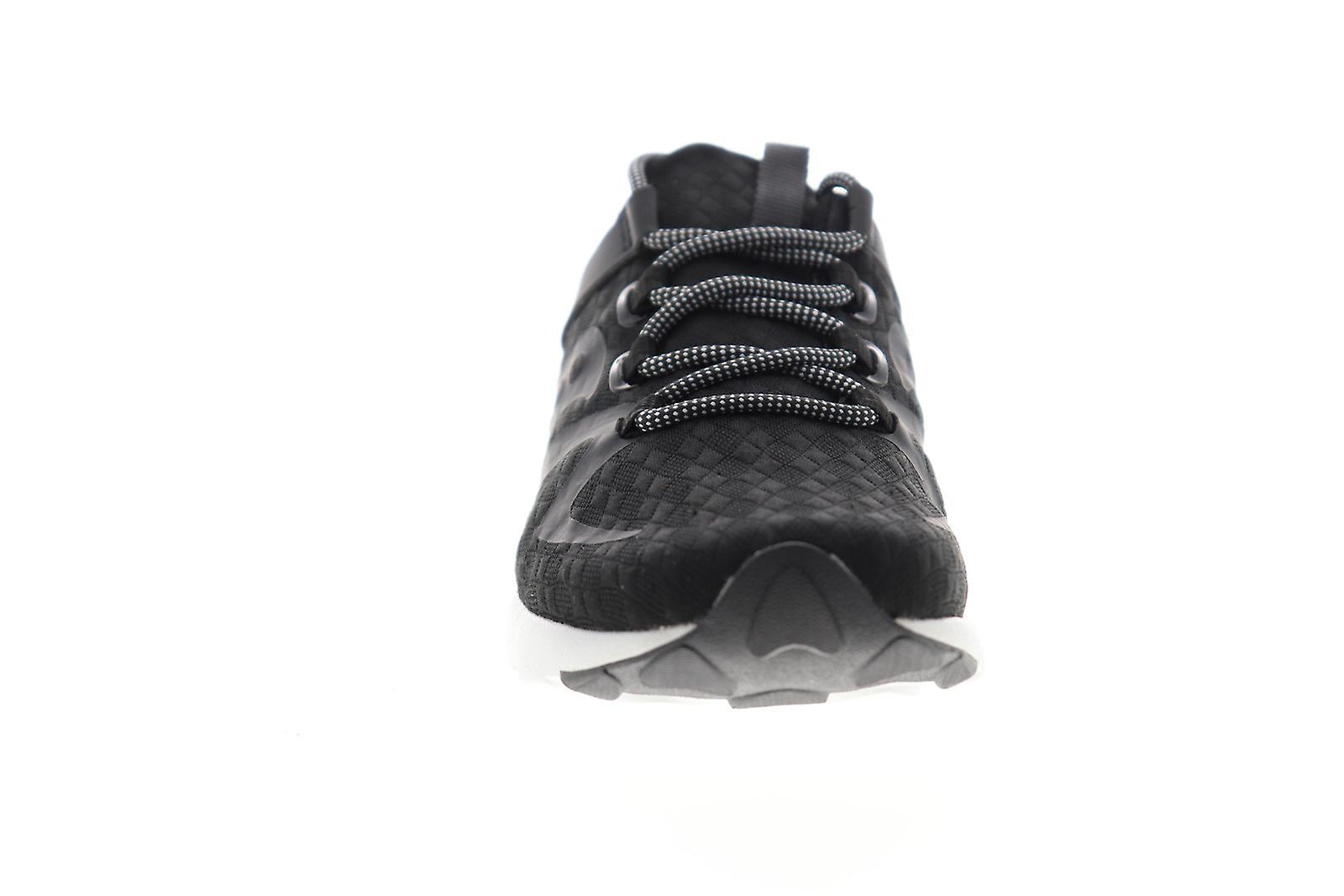 Saucony Grid 9000 Mod Mens Black Canvas Lace Up Athletic Running Shoes - Remise particulière
