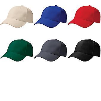 Beechfield Unisex Pro-Style Heavy Brushed Cotton Baseball Cap / Headwear (Pack of 2)
