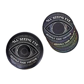 Paladone All Seeing Eye Heat Change Coaster Place Mat Set Circle NonSlip Drinks