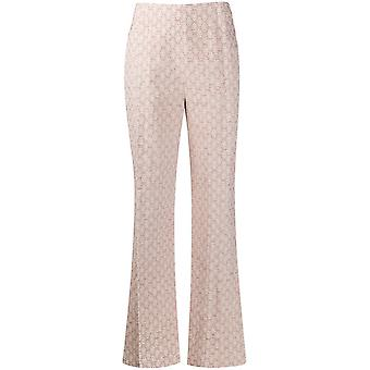 Acne Studios Ak0220ac8 Women's Pink Cotton Pants