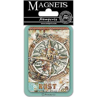 Stamperia Kompass 8x5.5cm Magnet