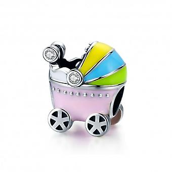 Sterling Silver Charm Baby Carriage - 5459