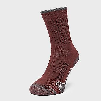 New Brasher Women's Walker Socks Red/Grey