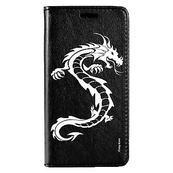 Case For Huawei P20 Lite Black Dragon Motif White