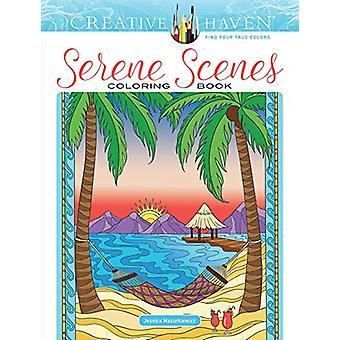 Creative Haven Serene Scenes Coloring Book by Jessica Mazurkiewicz -
