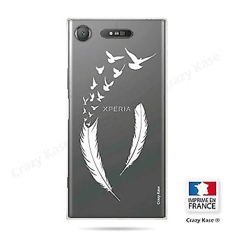 Romp voor Sony Xperia Xz1 flexibele veer patroon en vlucht vogels
