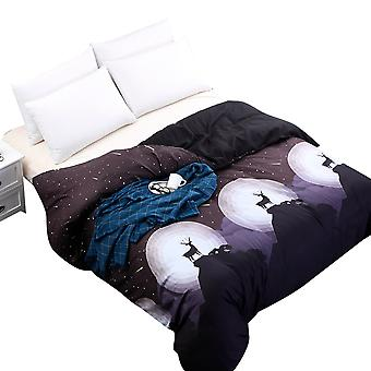 Bedding quilt cover, with pillowcase, bedroom set, durable anti-wrinkle non-mold quilt cover