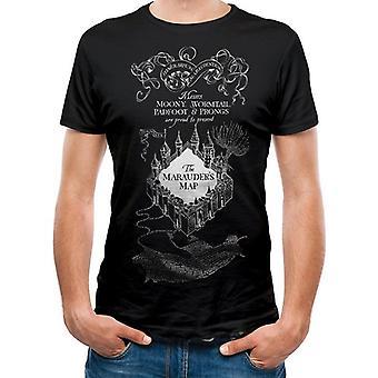 Harry Potter Unisex volwassenen Marauders kaart afdrukken T-shirt