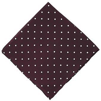 Michelsons of London Polka Dot Silk Handkerchief - Burgundy