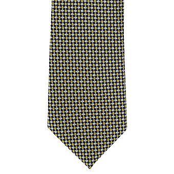 Paret av London mikro rutenettet Polyester Tie - gul
