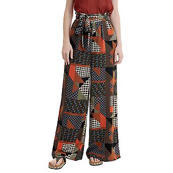 Funky Buddha Women's Palazzo Pants In Allover Print