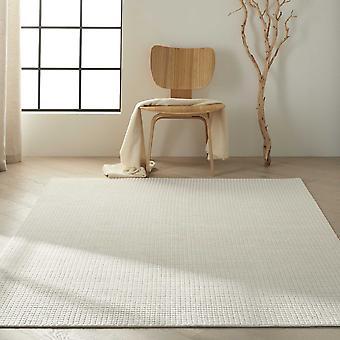 Calvin Klein Pretoria Quilted Designer Wool Rugs Ck890 In Ivory